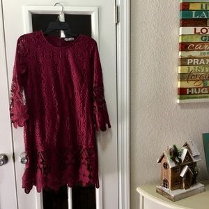 NWT Lace Wine Dress/Top